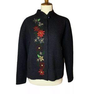 NEW Vintage Timberlea Christmas Cardigan 100% Wool